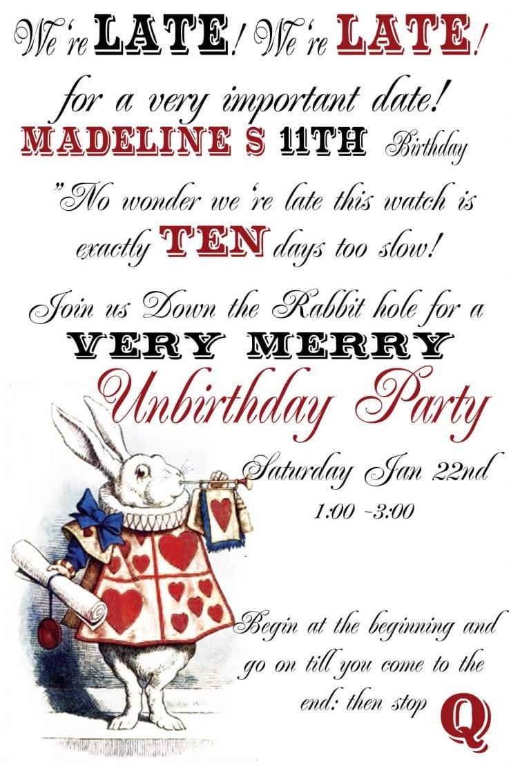 Birthday  White Trash Party Invitations