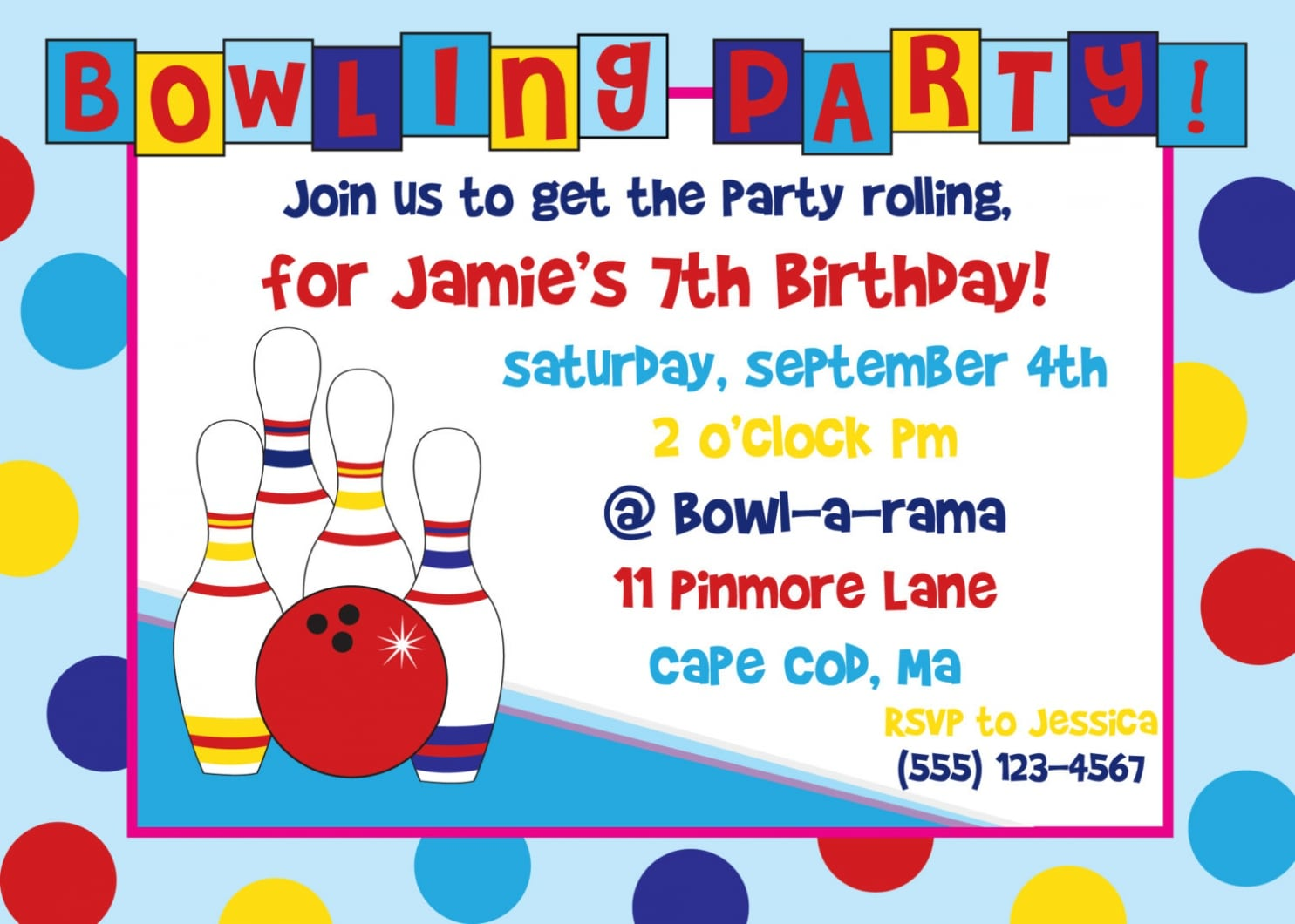 Bowling party invitation wording stopboris