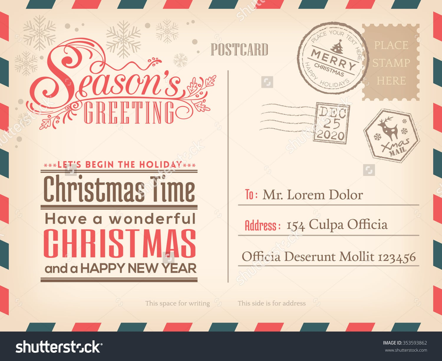 Christmas Party Invitations Vintage Cool Christmas Party
