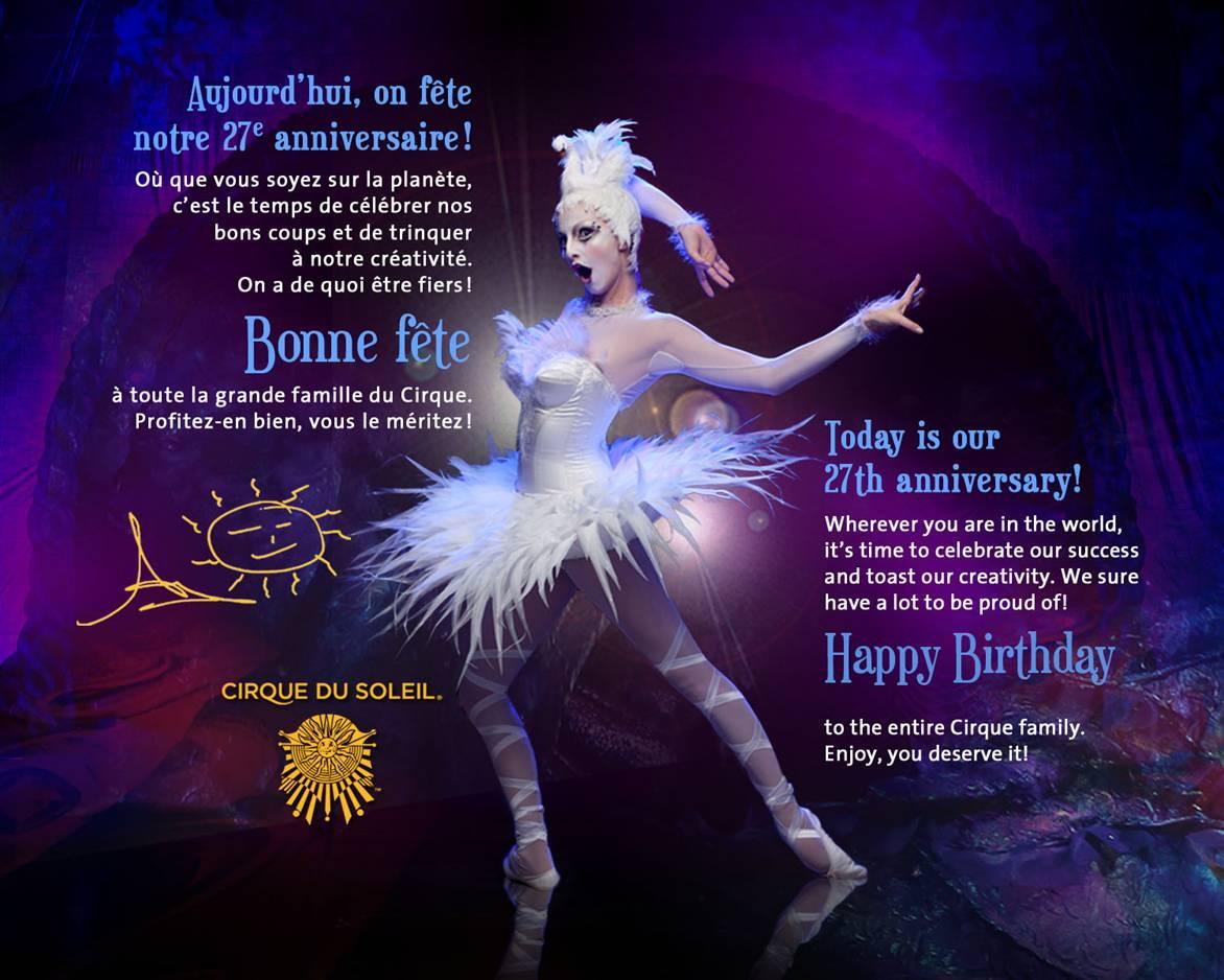 Cirque Du Soleil Party Invitations