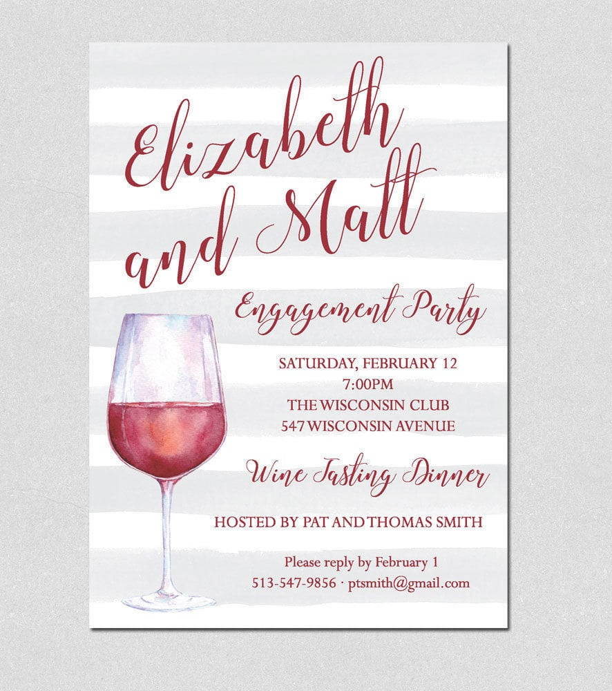 Cocktail Party Invitation, Wine Tasting Party Invitation
