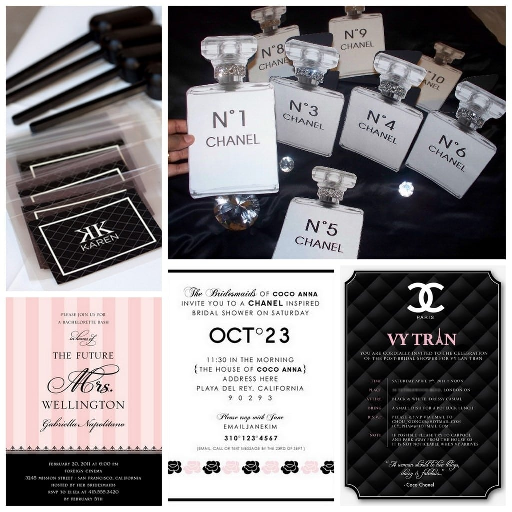 Coco Chanel Party Invitations