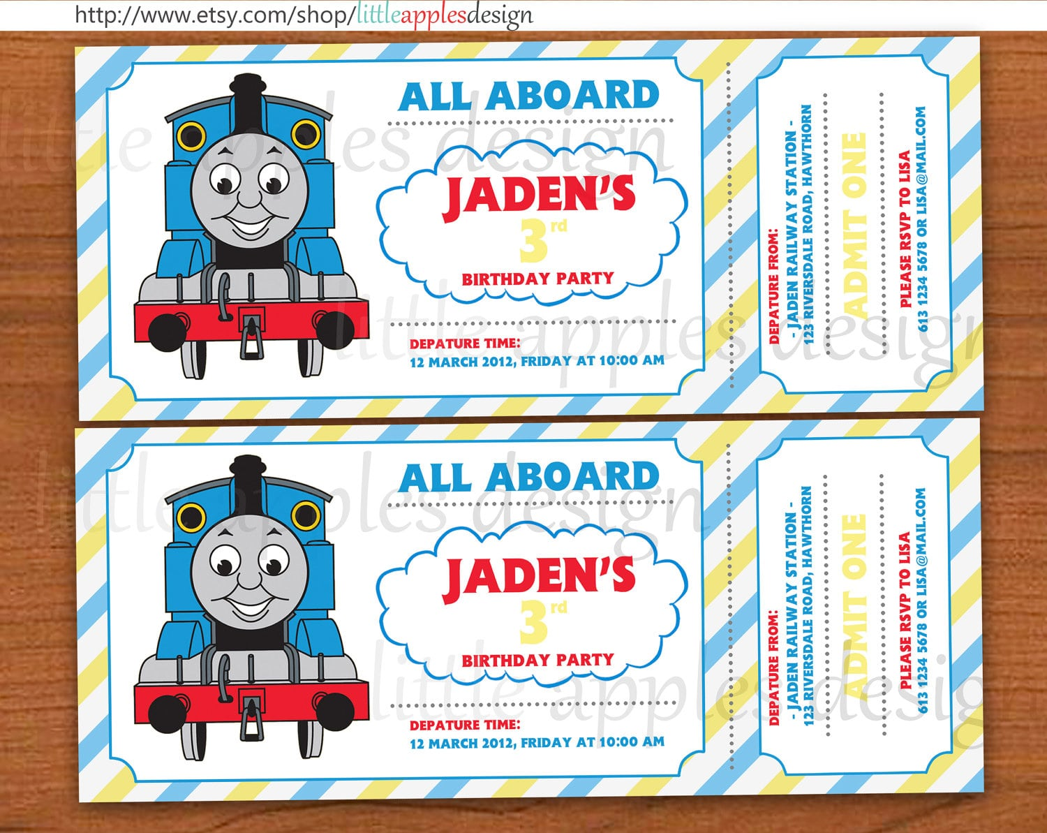 Thomas And Friends Birthday Party Printable Invitations