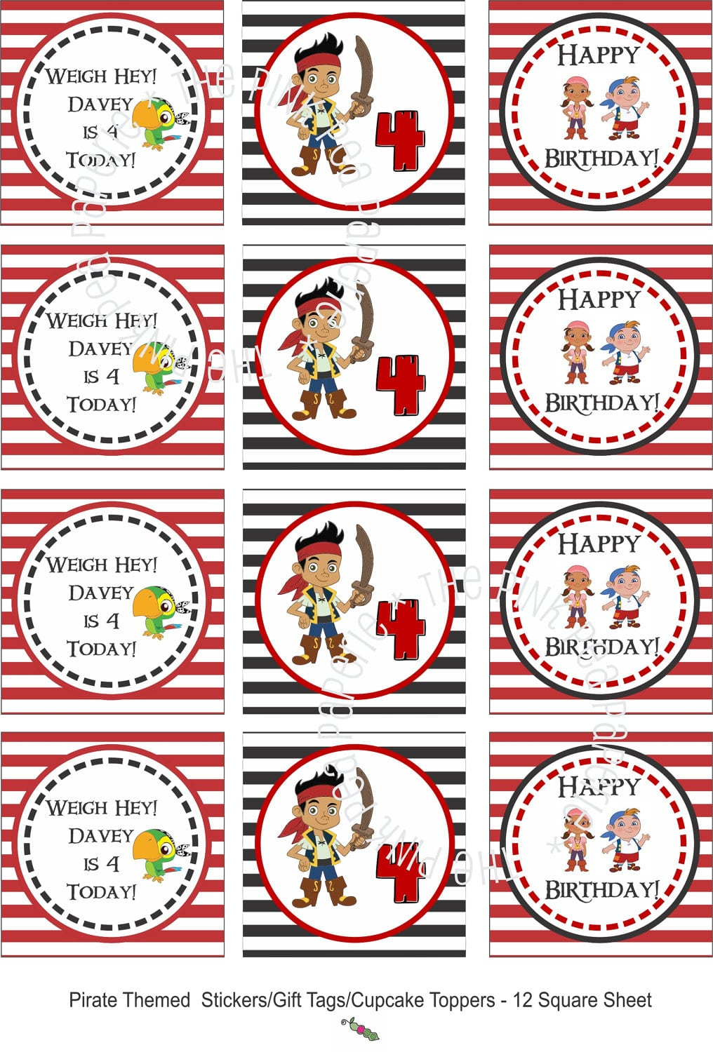 Jake And The Neverland Pirates Party Invitations Printable - Mickey ...