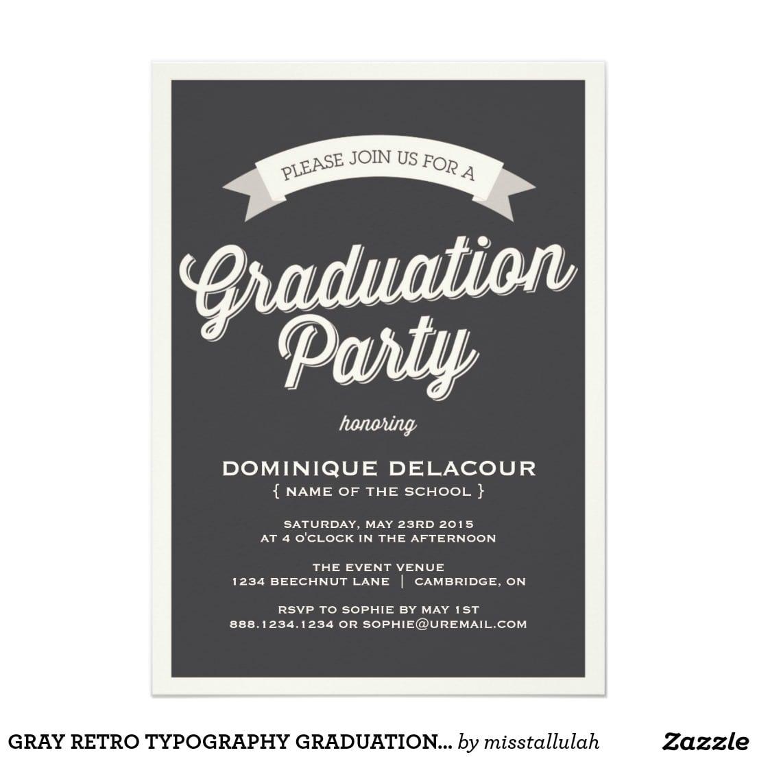 Designs Amazing 8th Grade Graduation Invitation Ideas With Elegant