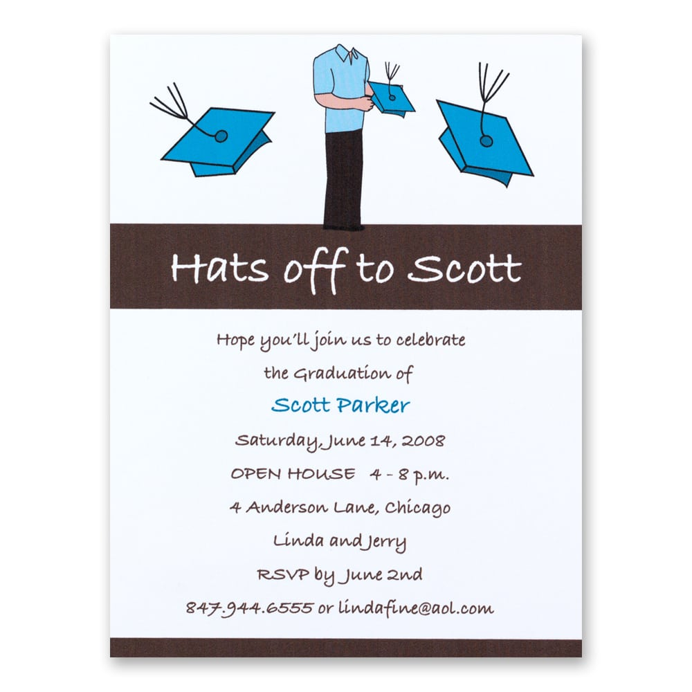 Designs Clasic Graduation Open House Invitations Templates With