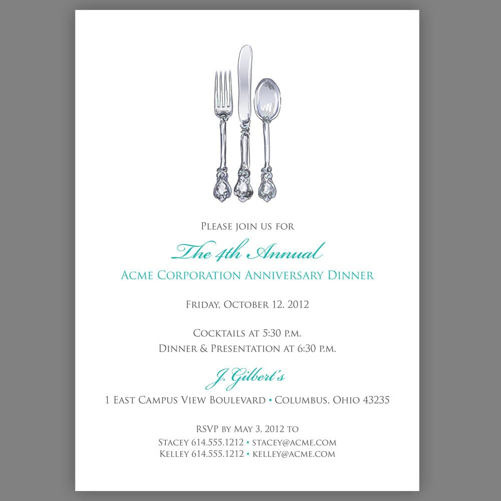 Dinner Invitation Sample Business Consulting Proposal Template