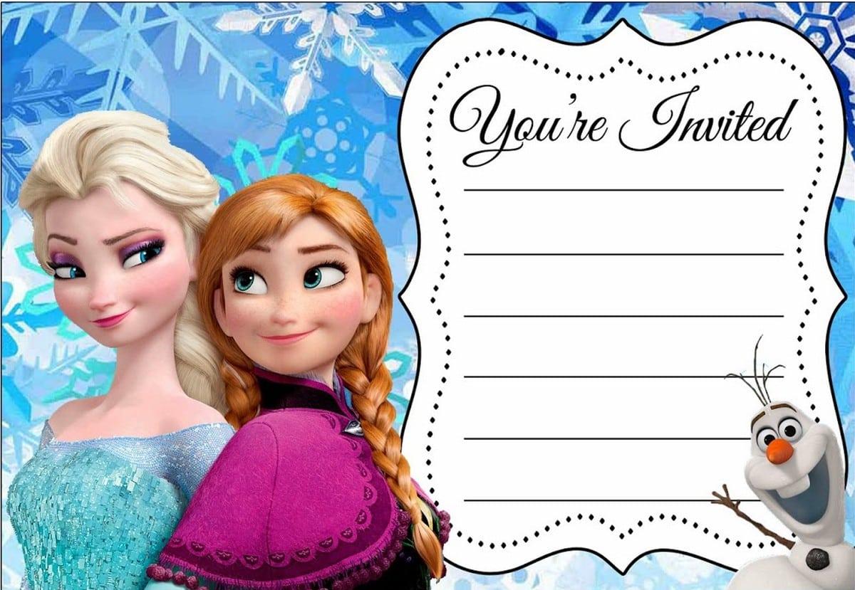 Disney Frozen Birthday Party Invitation Free Printable