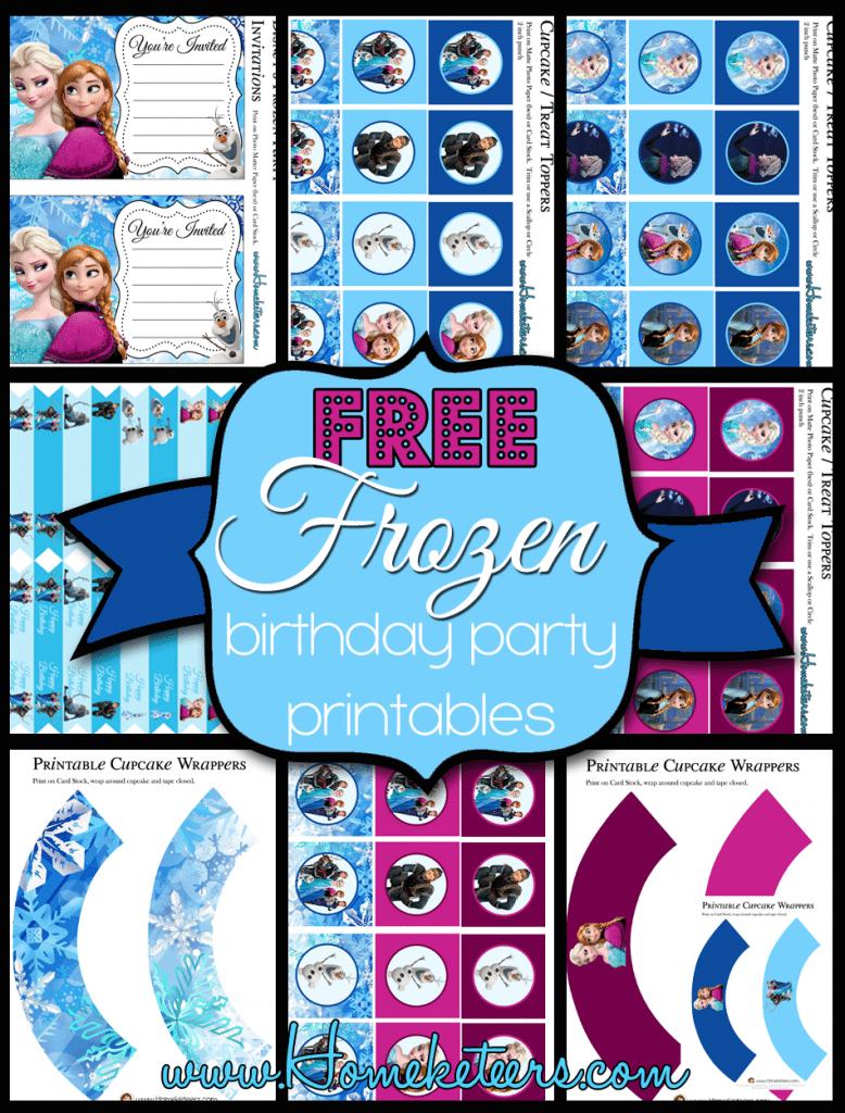 Disney's Frozen Party Printable Set ~ Free