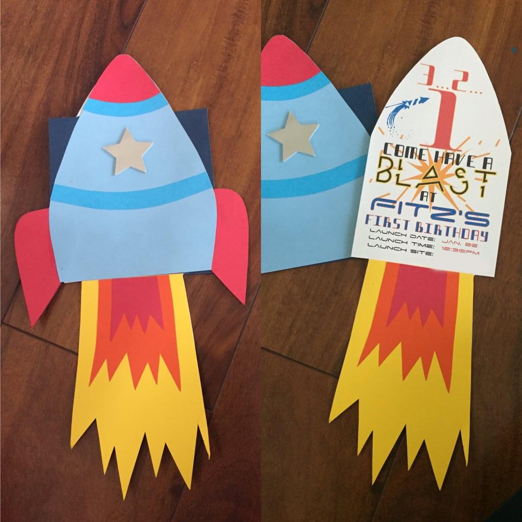 Rocket Party Invitations - Mickey Mouse Invitations Templates
