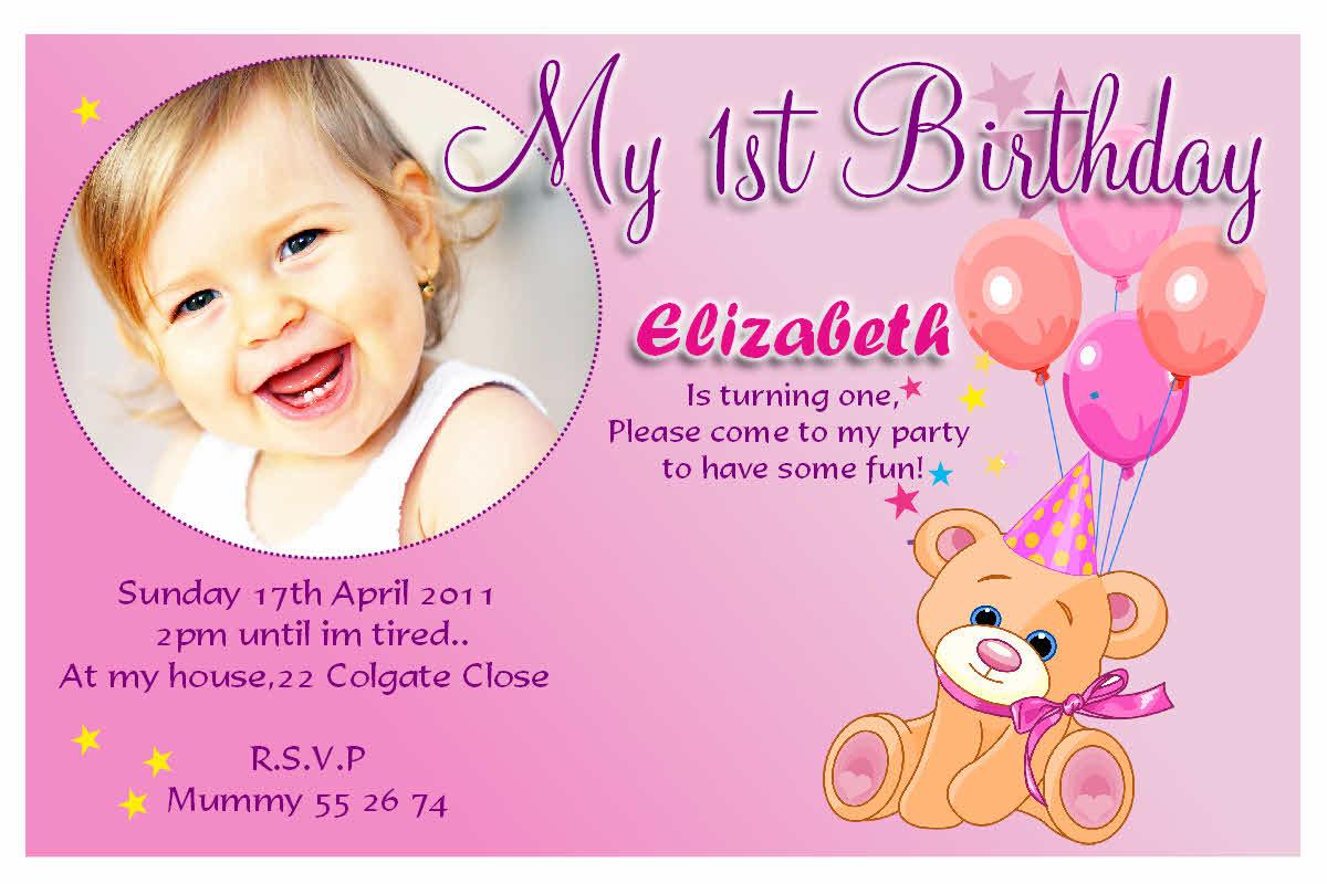 Doc    Birthday Invitations Cards – First Birthday Invitation Card