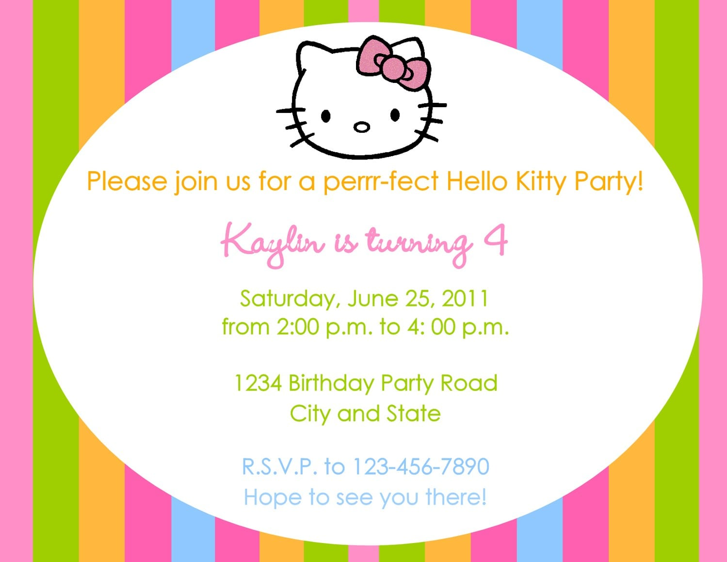 Doc    Birthday Party Invites Wording – Birthday Invitation