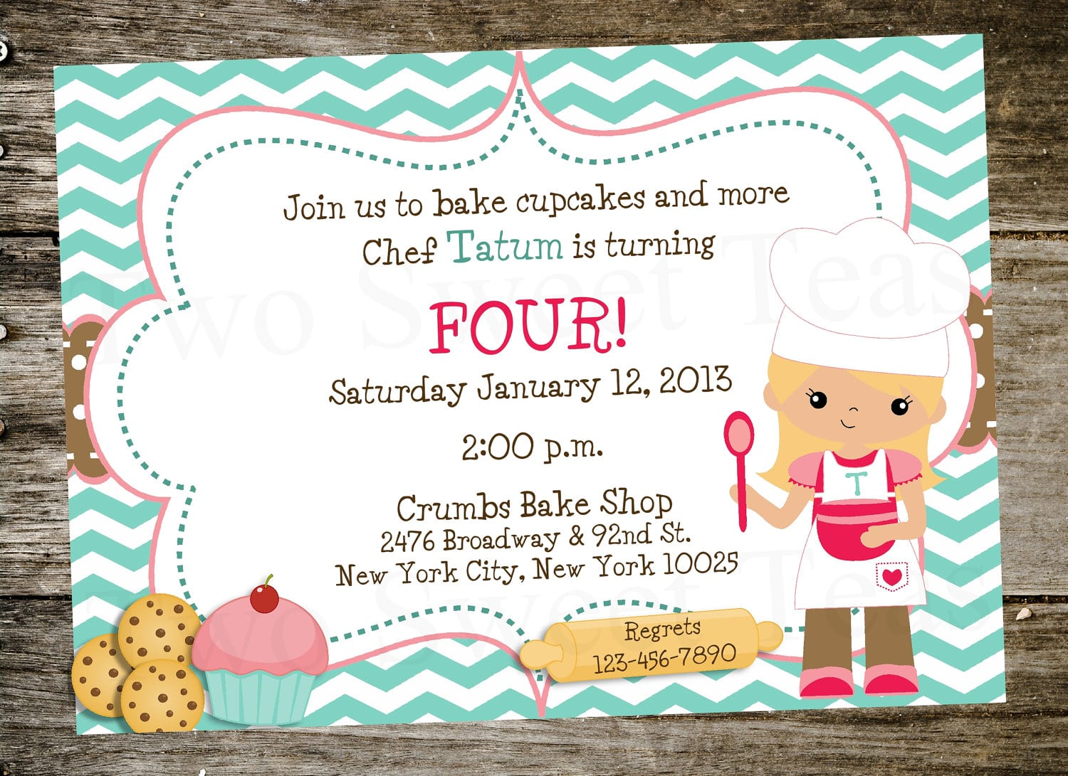 Doc    Cooking Birthday Party Invitations – Cooking Birthday Party