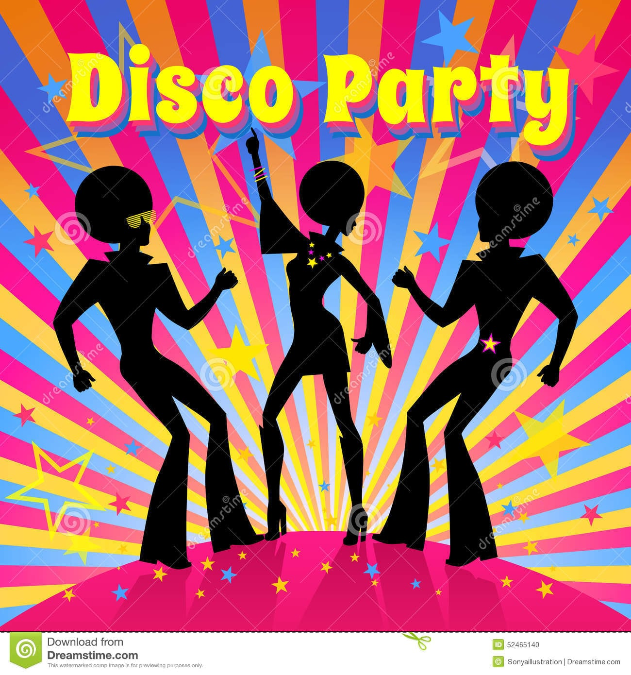 Disco Theme Party Invitations - Mickey Mouse Invitations ...