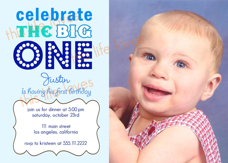 Doc    First Birthday Invitation Card Ideas – First Birthday