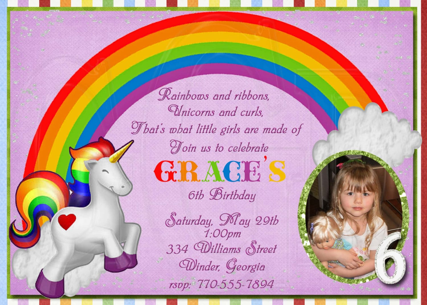 Doc    Rainbow Birthday Invitations – 17 Best Ideas About Rainbow
