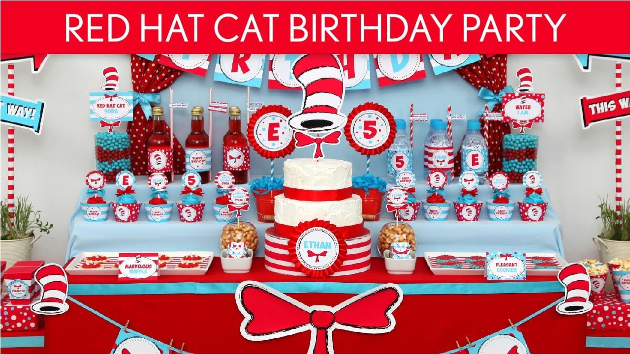 Cat In The Hat Birthday Party Invitations Gallery - Baby Shower ...