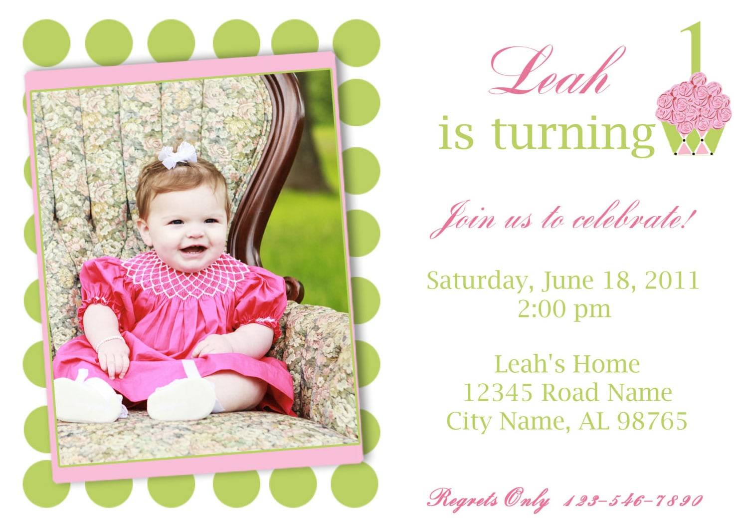 E Invitations For 1st Birthday