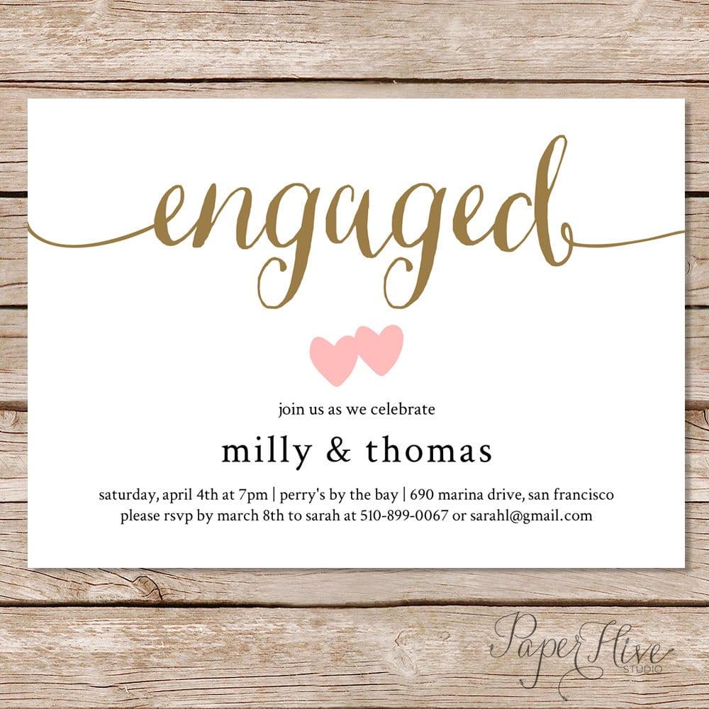 Engagement Invitation Words