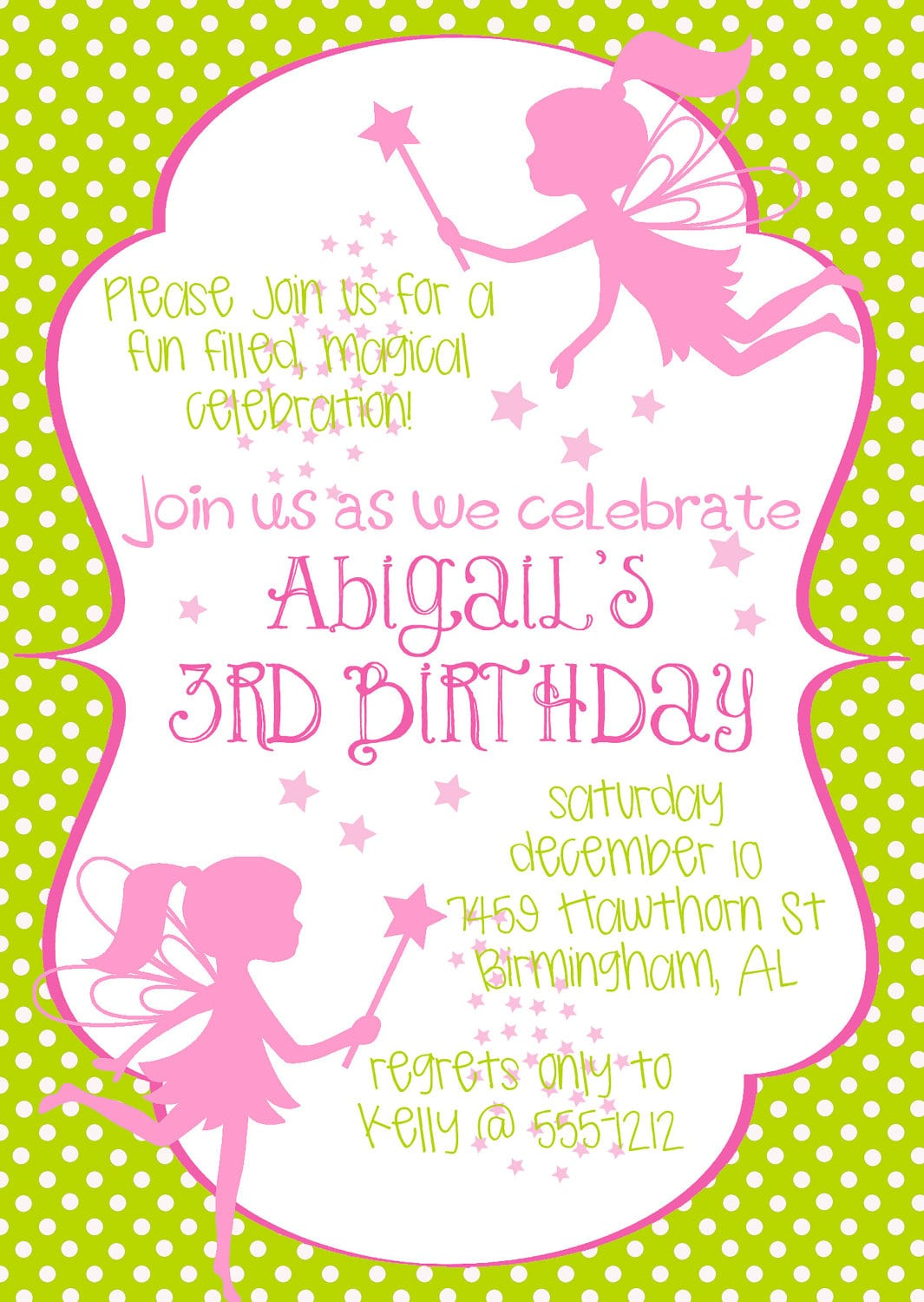 Fairy Birthday Party Invitations - Mickey Mouse Invitations Templates