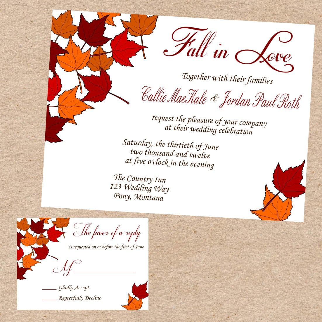 Fall Invitation Templates