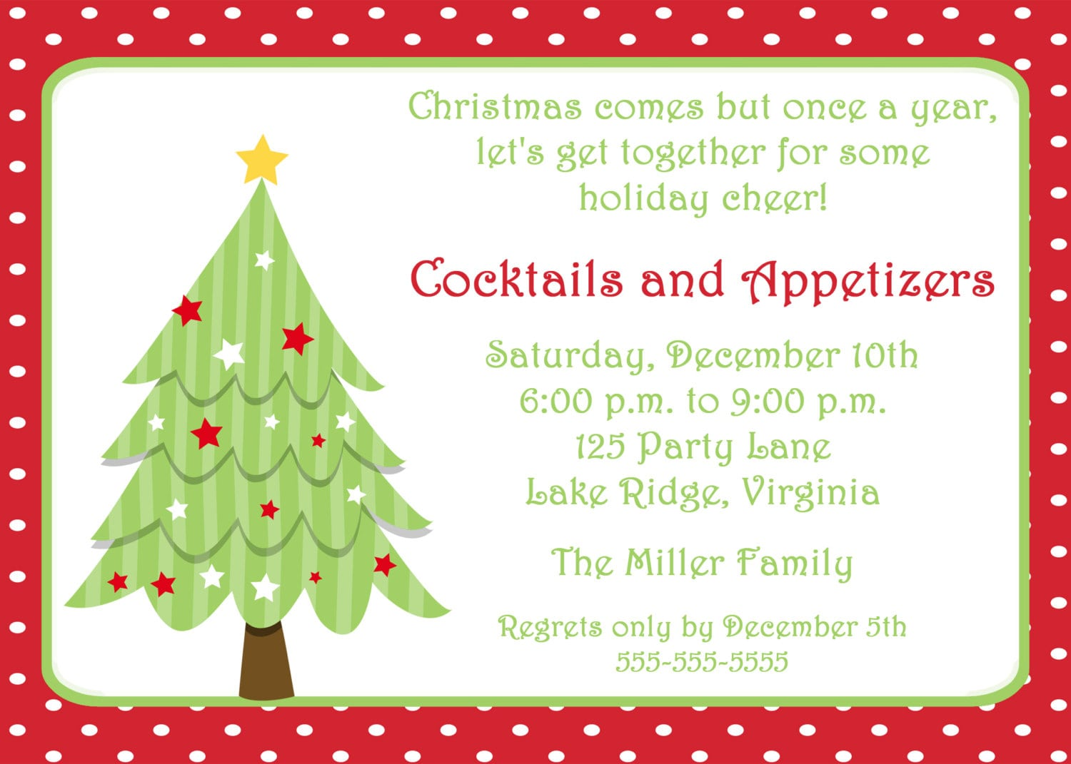 Wonderful Christmas Party Invitation Wording Samples Ideas ...