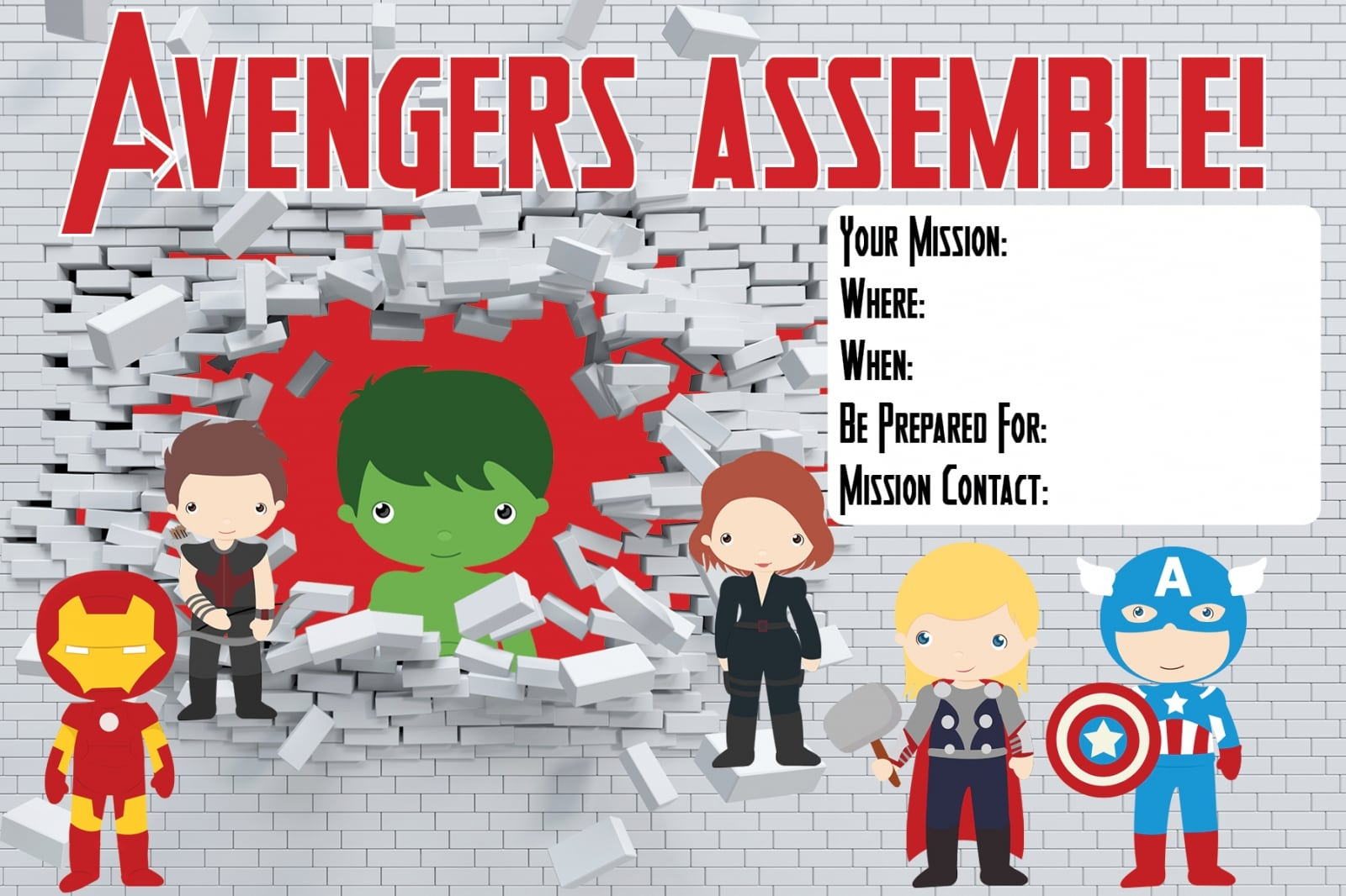 avengers party invitations - Keni.candlecomfortzone.com