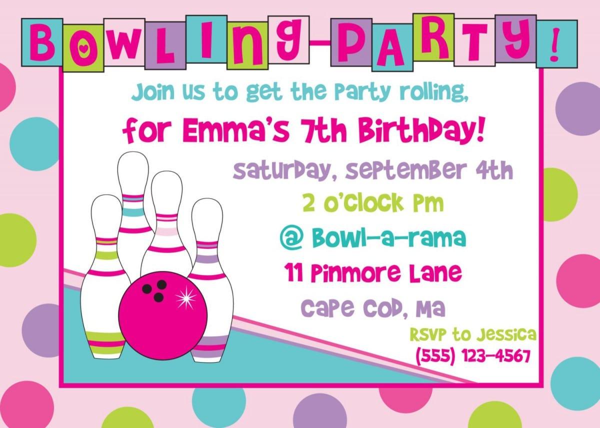 Free Printable Bowling Party Invitations Wedding Invitations