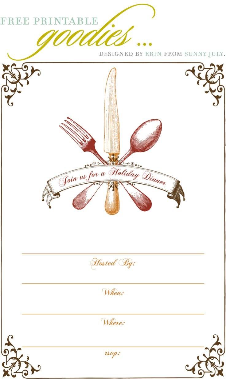 Lunch Voucher Templatedinner_party_invitation_cards Dinner · Free Printable Dinner  Party Invitations ...  Dinner Party Invitation Templates Free