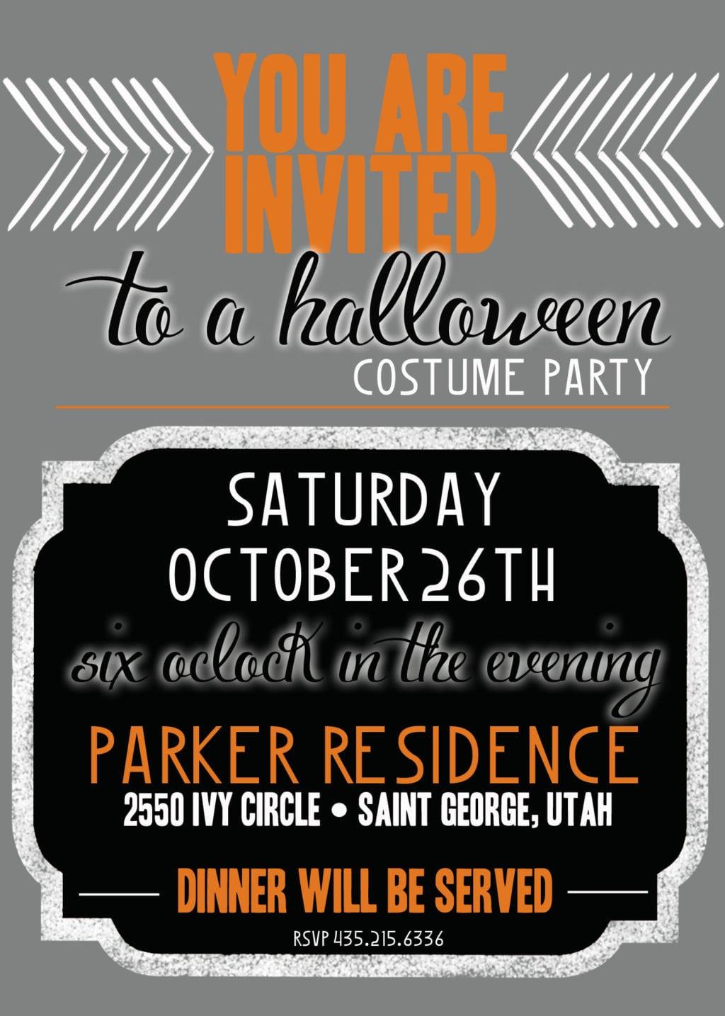 divine halloween party invitation costume wording free party – Free Printable Halloween Costume Party Invitations