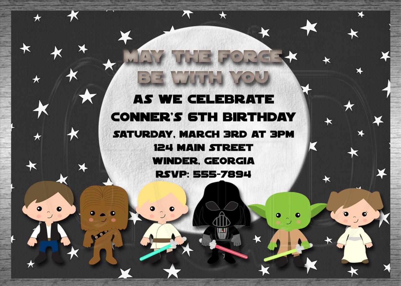 Lego Star Wars Party Invitations