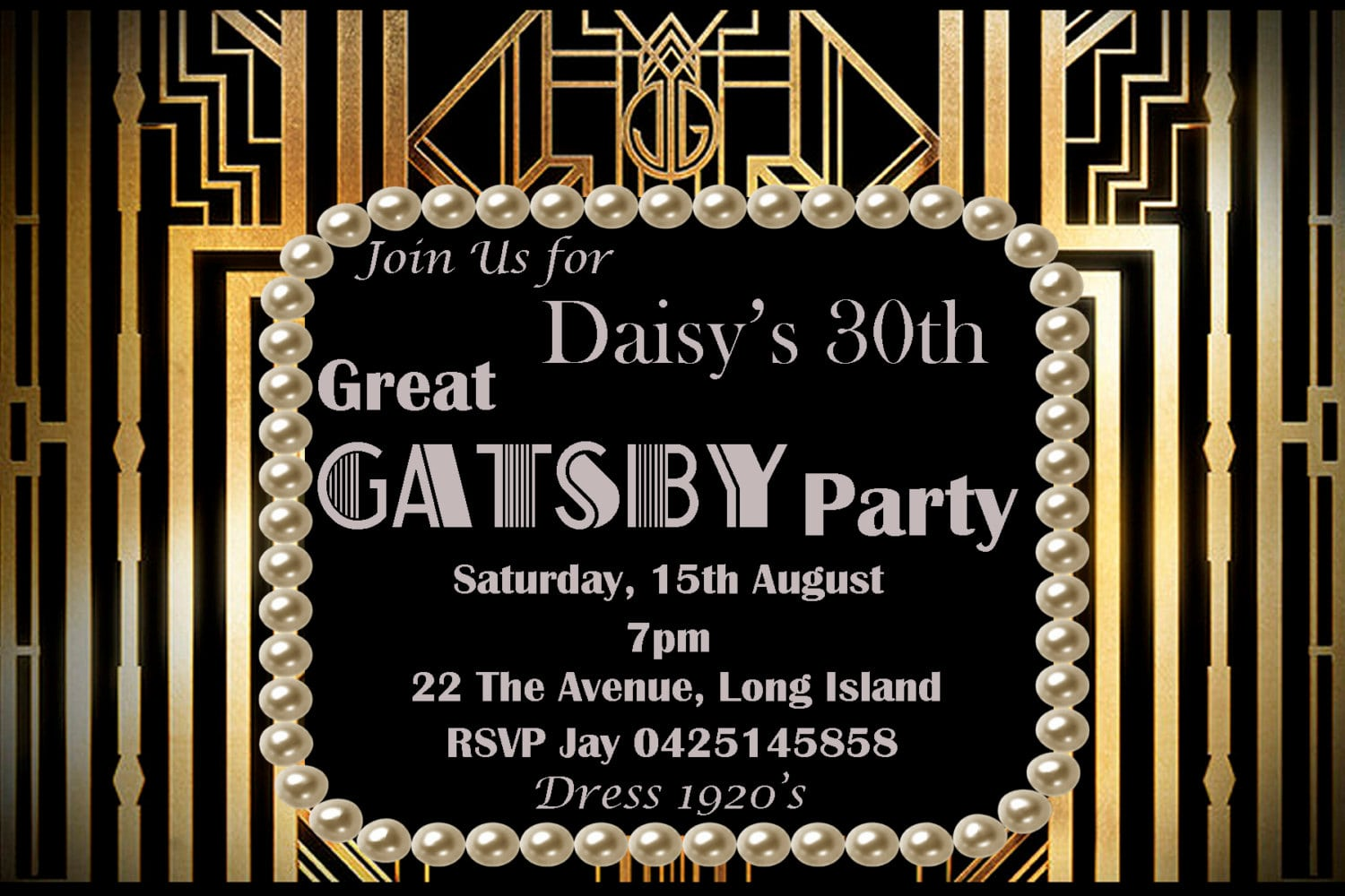 Gatsby Party Invitation