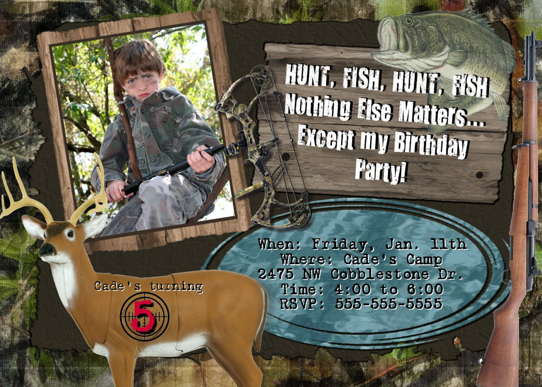 Hunting Birthday Party Invitations - Mickey Mouse Invitations Templates