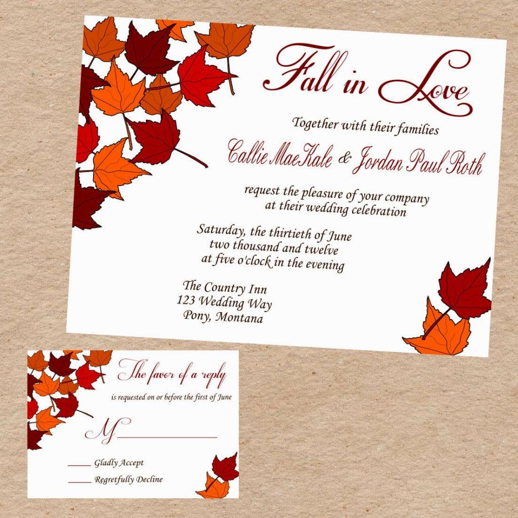 Invitation  Fall Party Invitation Template