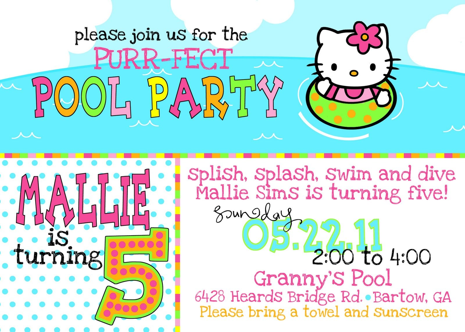 Keeping Up With The Sims Family!!!!  Mallie's Hello Kitty Birthday