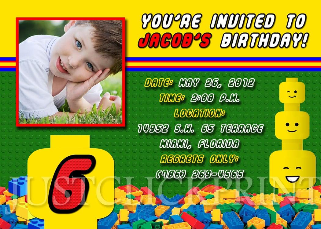Lego Birthday Party Invitations – Fleeciness Info