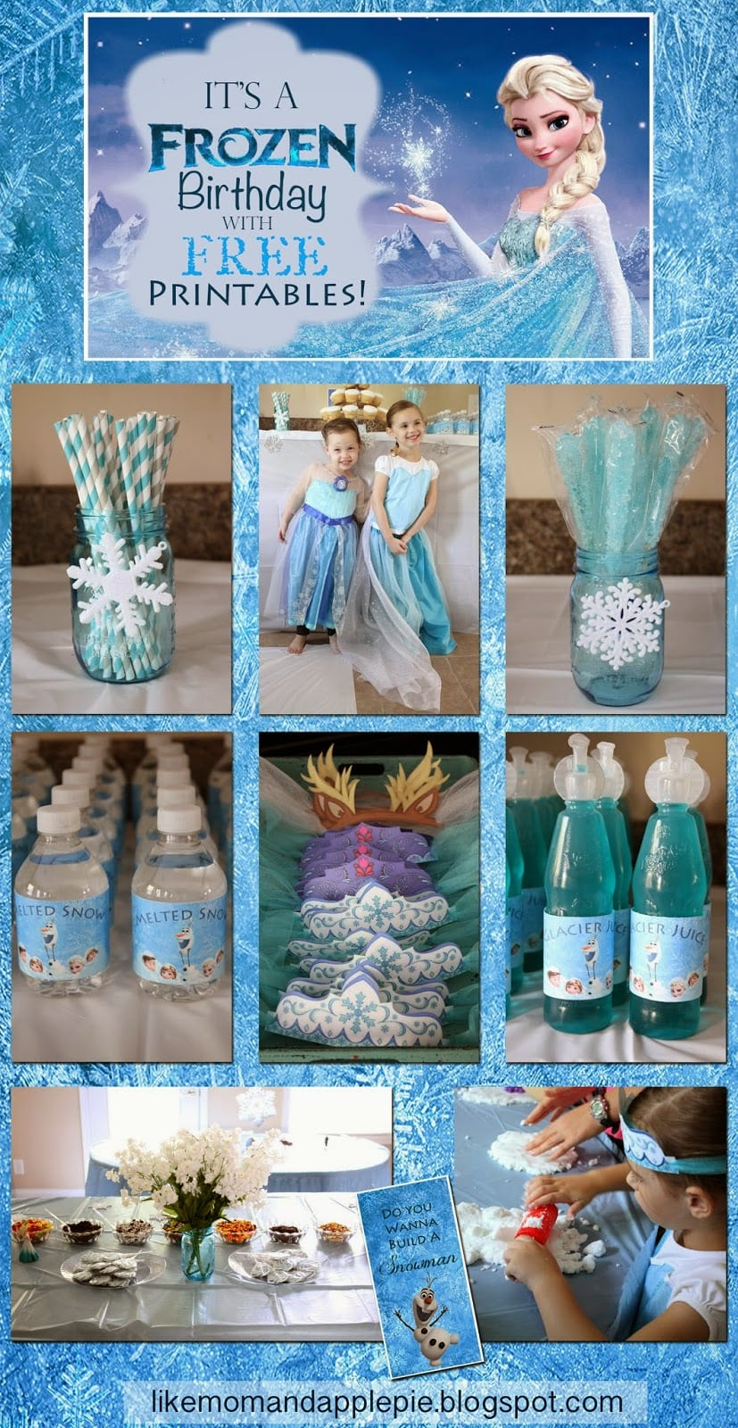 Like Mom And Apple Pie  Frozen Birthday Party And Free Printables
