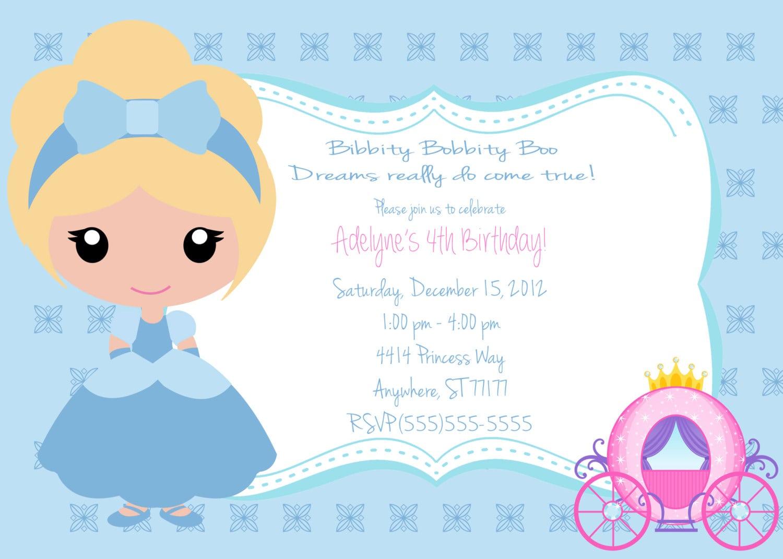 Little Girls Cinderella Invitation  $8 00, Via Etsy