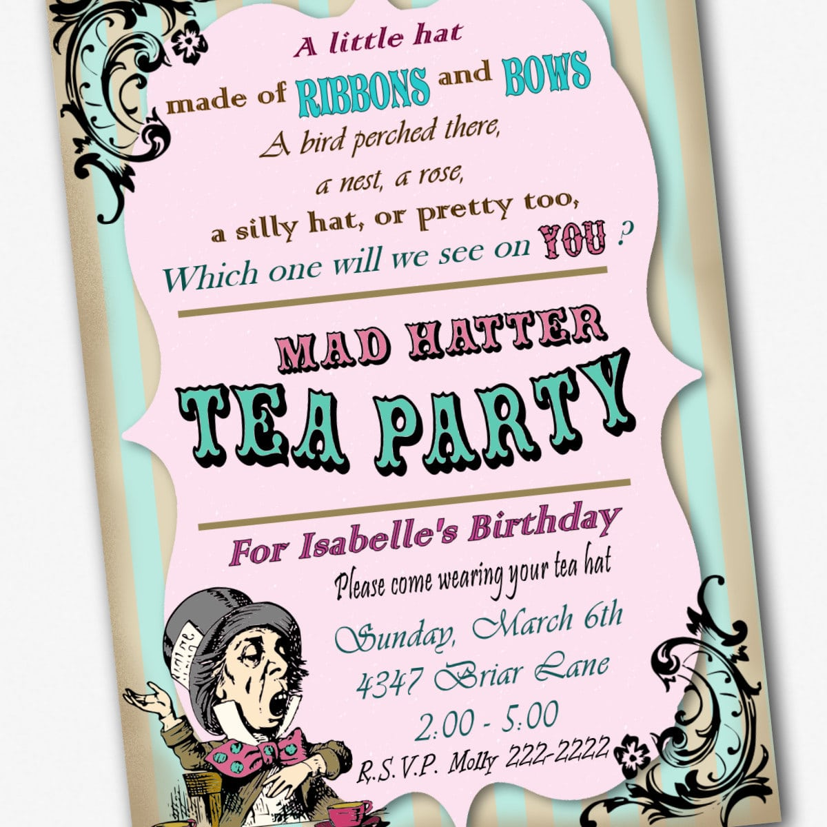 Mad hatters tea party invitation stopboris Gallery