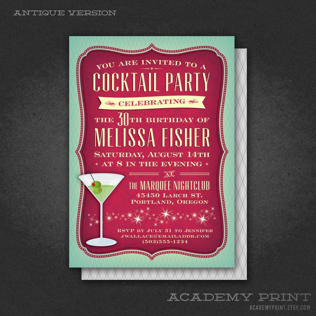 Martini Invitation