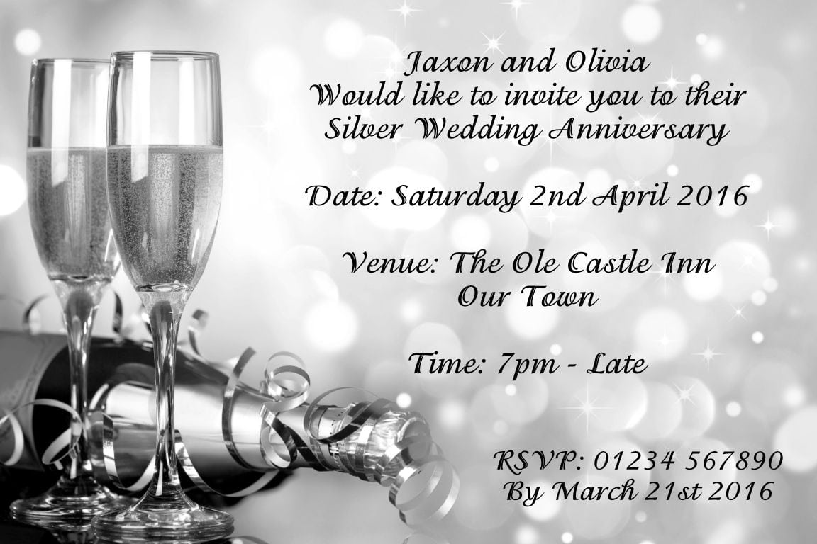 Marvellous Surprise Anniversary Party Invitations Wedding