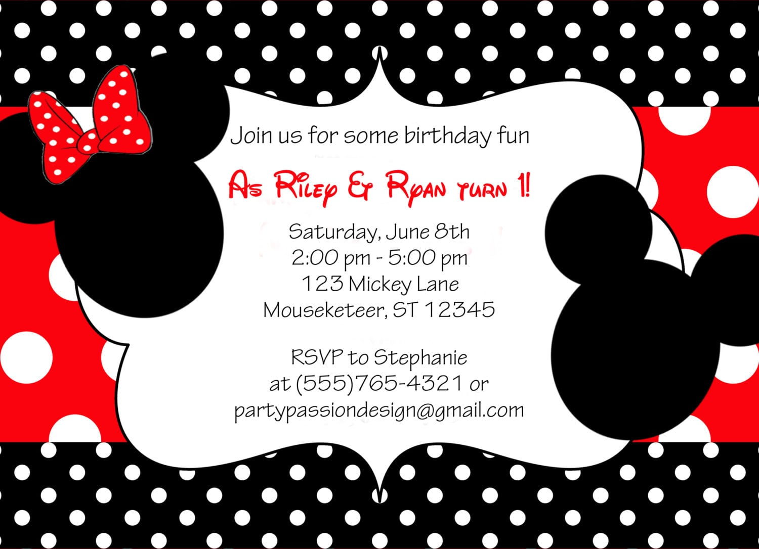 Mickey And Minnie Birthday Invitations Pictures About Mickey And