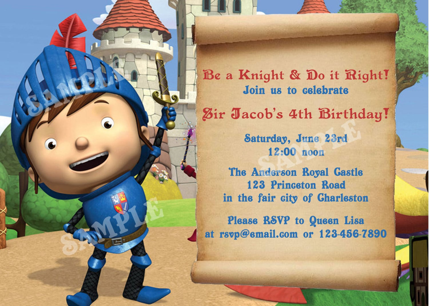 Mike The Knight Birthday