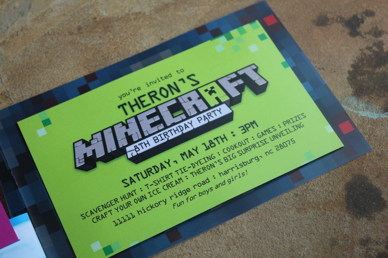 Minecraft Party Invitations – Gangcraft Net