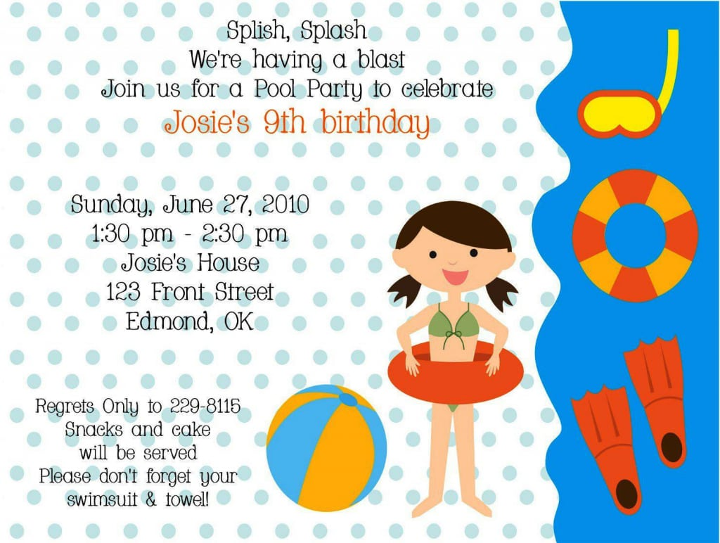 Ocean Themed Party Invitation Wording