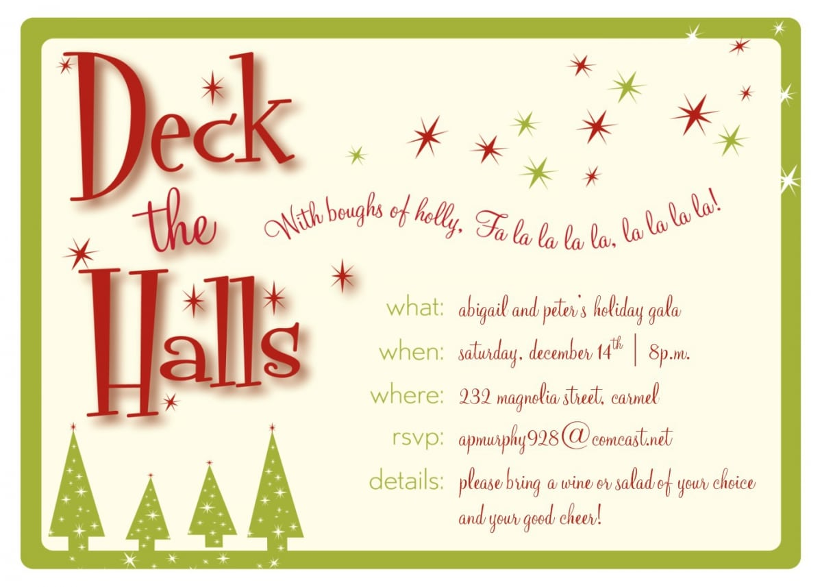 Office Christmas Party Invitation Template Stunning Office