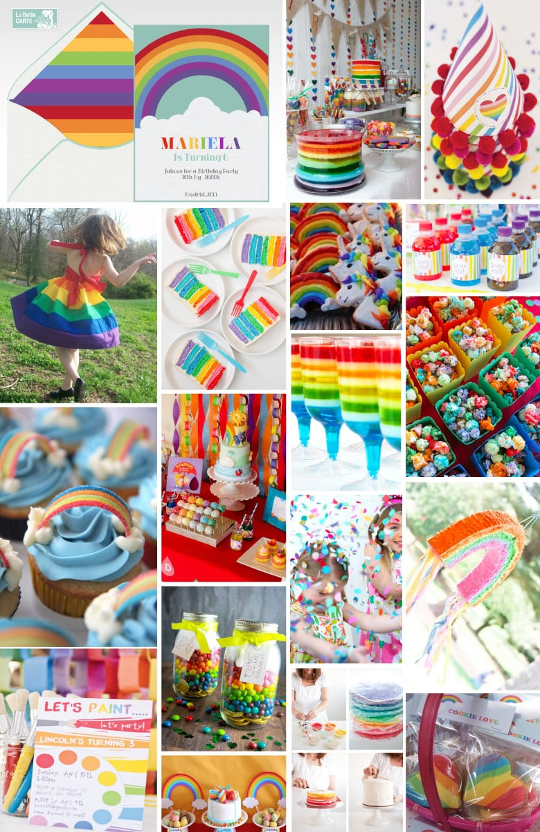 Online Invitations And Birthday Party Ideas For Children  Rainbow