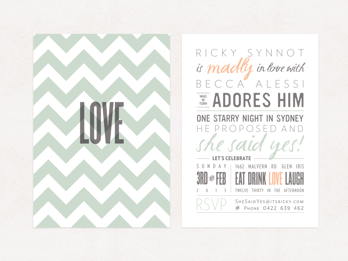 Our Engagement Party Invitations –