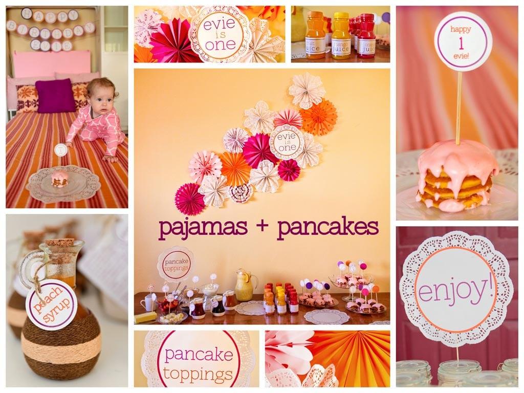 Pajama And Pancake Party Invitations