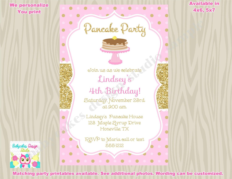 Pancake Invitation